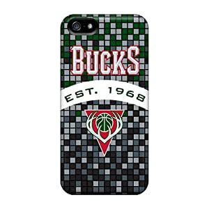 Fashion Tpu Case For Iphone 5/5s- Milwaukee Bucks Defender Case Cover by icecream design