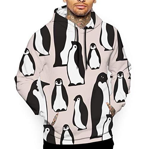 Penguin Jersey Sweater - CHETI Penguin Pattern Men's Pullover Hoodies Hooded Sweatshirts