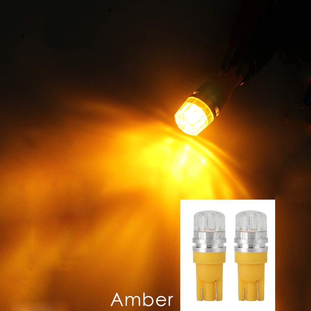 Yubusiness 10pcs DC12V T10 Car Breite Lampen Gelbe Beleuchtung Seite Innenbeleuchtung Licht