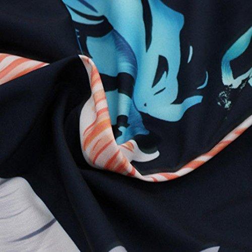 V Épaule Chic Jumpsuits Noir À Mode Short Taille Sans Manches Slim Bohémien Adeshop S D'été Femmes Col Impression Xl Nu Combinaison Siamois Sling Casual Pantalon pwaSzqtU