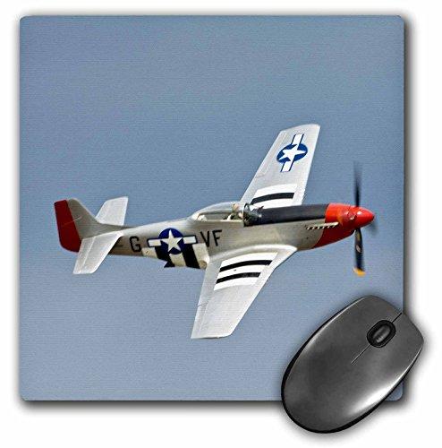 - 3dRose LLC 8 x 8 x 0.25 Inches Mouse Pad, P 51D Mustang Fighter WWII War Plane Bernard Friel (mp_97103_1)