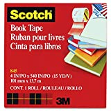 See-Through Book Repair Tape, 4'''' Wide, 15 Yards Long, 3'''' Core (MMM8454)