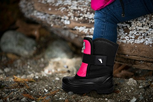 Stonz Scout Winter Boots for Cold Weather, Snow, Ice and Winter Sports - Insulated, Super Light & Warm - Pink/Black, 7T by Stonz (Image #4)