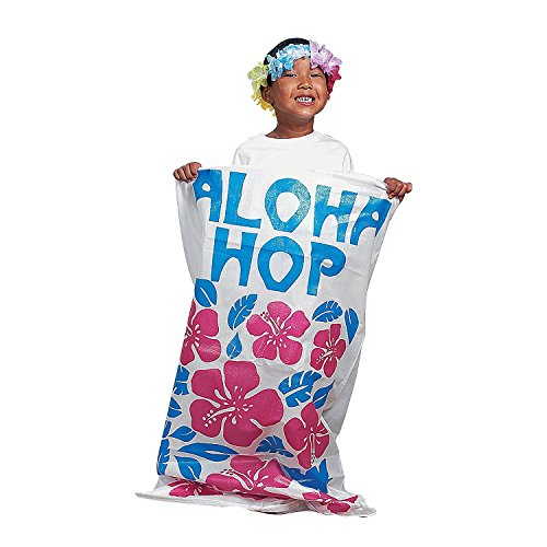 Set-of-6-LUAU-Aloha-POTATO-SACKSSack-RACE-GAMETropical-PARTY-FUNHIBISCUS