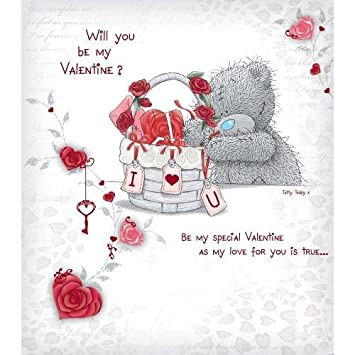 Will You Be My Valentine Me To You Bear Card