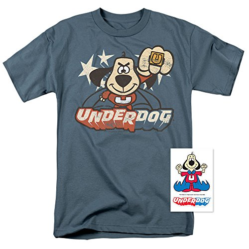 Popfunk Underdog Flying Logo Retro Cartoon T Shirt & Exclusive Stickers (XX-Large) (Shirt Tee Retro)