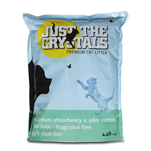 Just the Crystals Premium Crystal Cat Litter — Fragrance Free and Pre-Measured to the Ideal 4.4 Pounds Per Bags for Maximum Convenience 51GvEdQLODL