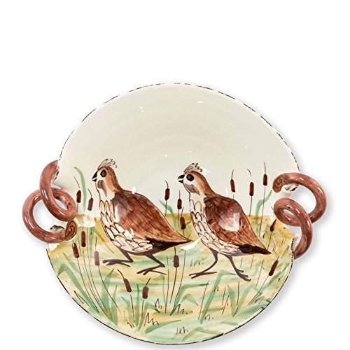 Vietri Wildlife Quail Scallop Handled Bowl ()