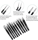 PIXNOR Precision Tweezers Set - 10 PCS ESD