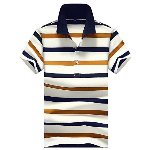 ポロシャツ メンズ 半袖 作業着 夏 無地 ゴルフウェア ボーダー カジュアル 修身 半袖 Tシャツ 開襟シャツカッコイイスポーツウェア 吸汗速乾 通気性 薄手