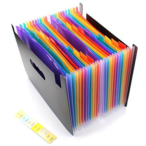 24poches Expanding dossier de fichiers/A4extensible Trieur Ménager/portable accordéon File Folder