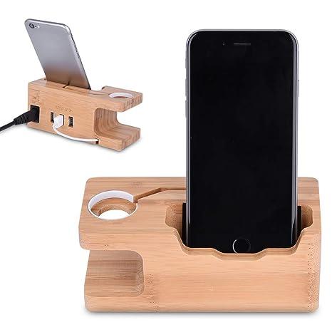 Amazon.com: Base de carga frontal de madera Wal, soporte de ...