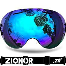 IceHacker Lagopus X5 Frameless Ski Snowmobile Snowboard Skate Goggles with 100% UV400 Protection Anti-fog Oversize Spherical Goggle
