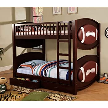 Amazon Com Furniture Of America Football Bunk Bed With 2
