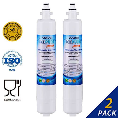 Premium Refrigerator Replacement Water Filter, 2 PACK, Compatible W/ GE RPWF ONLY (NOT FOR RPWFE)