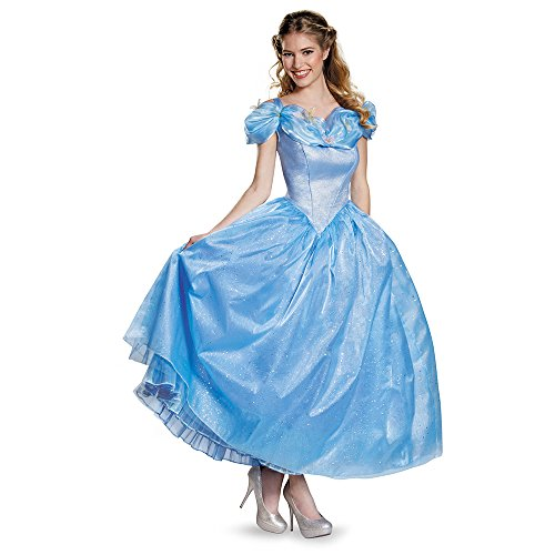 Disney Princesses Costumes Adults (Disney Women's Cinderella Movie Adult Prestige Costume, Blue, Large)