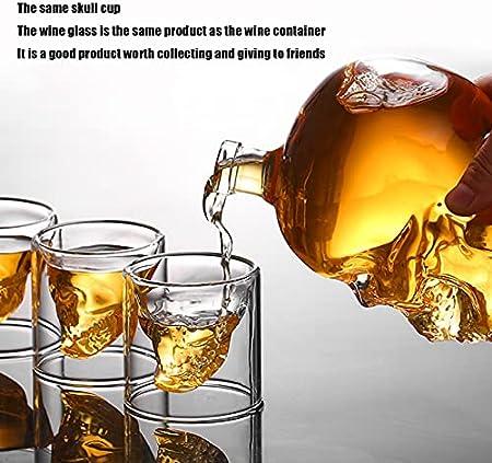 NDHENG Creative Whisky Decanter 750ml, decantador de Licor Creativo, Tipo de Bebidas alcohólicas (Capacidad de 750 ml)