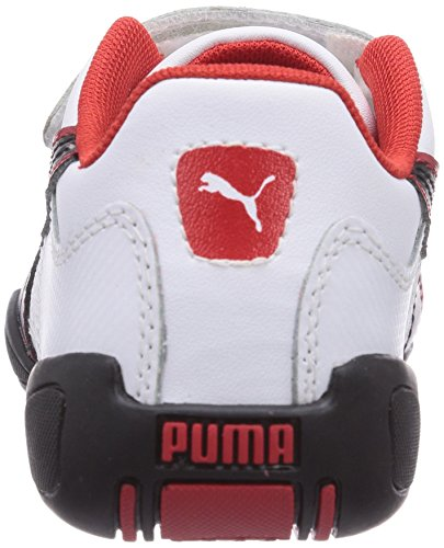 Puma Tune Cat B 2 V Kids - zapatilla deportiva de material sintético infantil blanco - Weiß (08 white-black-high risk red)