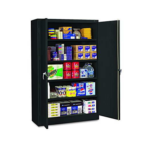 "Tennsco J1878SUBK Assembled Jumbo Steel Storage Cabinet, 48""w x 18""d x 78""h, Black"