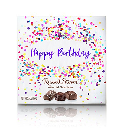 Creams Chocolate Assorted - Russell Stover Assorted Chocolates Happy Birthday Box, 5.5 Ounce, 5 Count