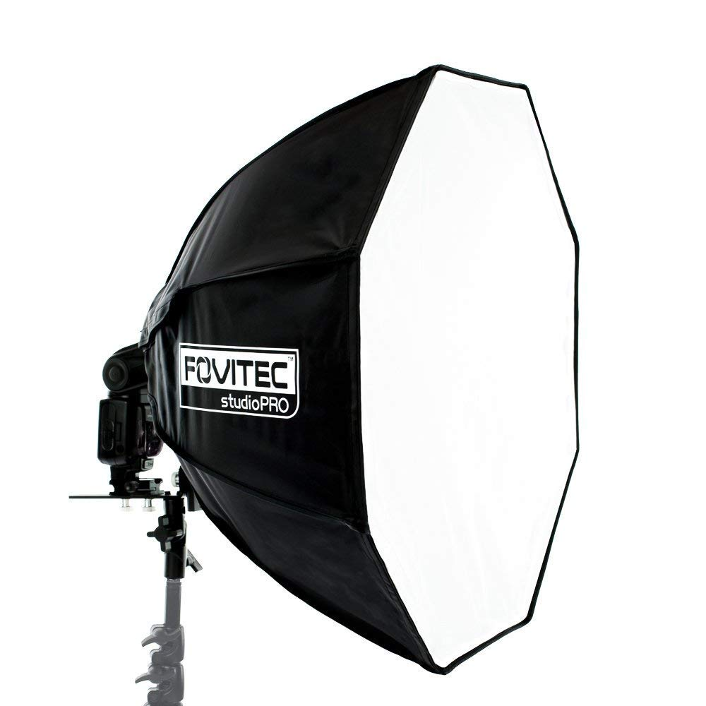 Fovitec - 1x 24 inch Photography & Video Octagon Softbox - [Easy Set-up][Durable Nylon][Lightweight][Hand Grip][Carry Sleeve Included] by Fovitec