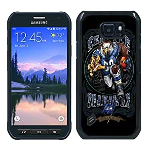 Samsung Galaxy S6 Active Case ,Newest And Beautiful Designed Case With Seattle Seahawks 01 Black Samsung Galaxy S6 Active Screen Case Good Quality Designed Phone Case