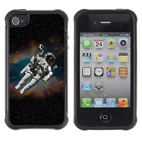 Apple Iphone 4 / 4S - Cosmonaut Astronaut Skeleton Art Space Travel