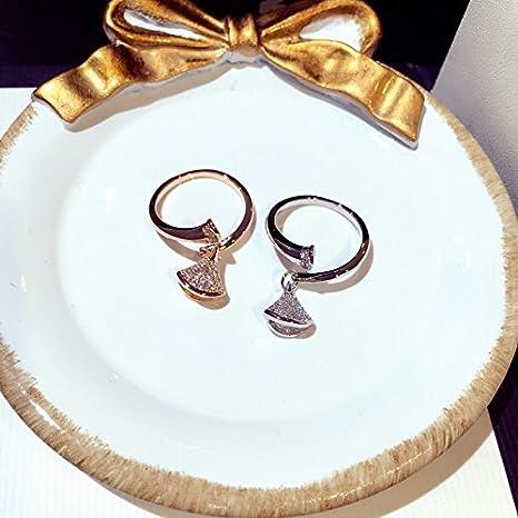 Fashion Trend Korean Exquisite Diamond Ring Opening Ring Women Girls Creative Golden