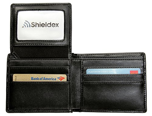 RFID Shieldex Blocking Wallet Black