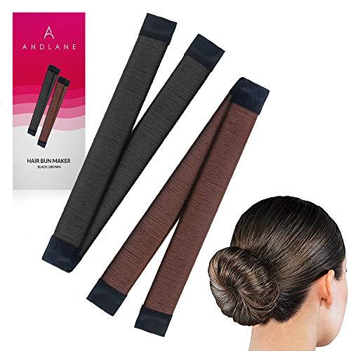 Women#039s Hair Bun Maker French Twist Hair Fold Wrap Snap by Andlane 1 Black 1 Brown