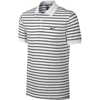 Nike Match Up diseño de rayas Polo de manga corta Blanco blanco ...