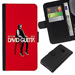BearCase / Cuero de la tarjeta la carpeta del tirón Smartphone Slots Protección Holder /// HTC One M9 /// El Gran Guetta