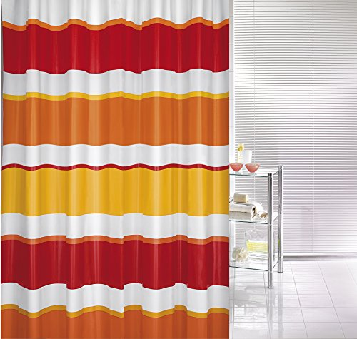 Linea shower curtain 70.9x78.7in [180x200cm] - Ruby Red