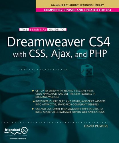 The Essential Guide to Dreamweaver CS4 with CSS, Ajax, and PHP (Essentials) by imusti