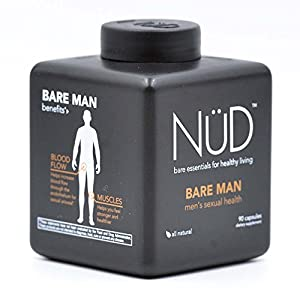 Powerful Natural Male Enhancement From NuD | Bare Man - Libido Enhancer, Testosterone And Confidence Booster | Take Daily For Better Bedroom Performance (90 Capsules)