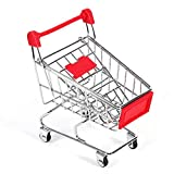 Parrot Toy-Parrot Toy Parakeet Budgie Cockatiel Intelligence Growth Tool Supermarket Shopping Cart Red