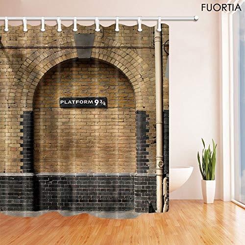 Fuortia Shower Curtain Bath Room Fabric Shower Curtains 69