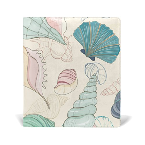 Hardback Cover Shell (Cooper girl Conch Shell Book Cover Fits Most School Hardcover Textbooks Up To 9 x 11 inch Durable Reusable Universal Size)