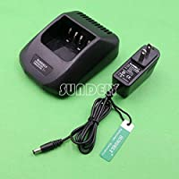 SUNDELY Ni-CD Ni-MH Li-ion Rapid Desktop Battery Charger Charging Dock for Kenwood Radio TK190 TK385 TK480 TK5400 KNB-16A KNB-17A KSC-19