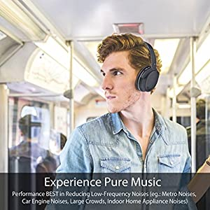 Avantree Active Noise Cancelling Bluetooth 4.1 Headphones with Mic, Wireless Wired Super Comfortable Foldable Stereo ANC Over Ear Headset, Low Latency for TV PC Gaming Phone - ANC032 [24M Warranty]