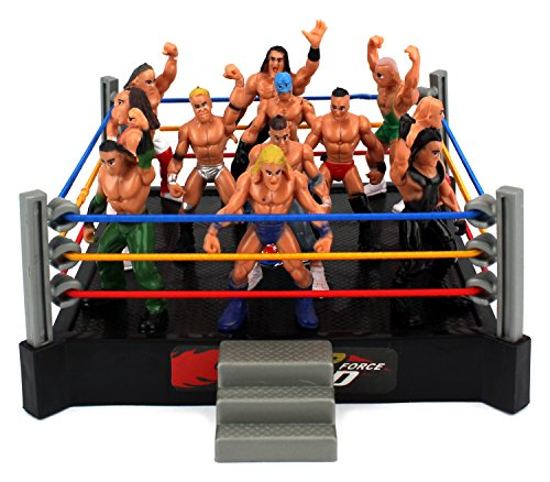 [VT Mini Smack Battle Action Wrestling Toy Figure Play Set w/ Ring, 12 Toy Figures] (Randy Orton Costume)