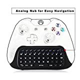 DOBE 2.4G XBOX One Mini ChatPad Keyboard,KeyPad [with Analog Stick/Joystick & Headset/Audio Jack] for Xbox One (S) , Xbox One elite Controller (Black)