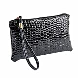 Women Girl Leather Clutch Handbag Bag Wristlet Clearance Tassel Messenger Strap Messenger Handbag Tote on sale Clearance Travel Kids Coin Phone Satchel Purse Card Holder Case Sale (Black)