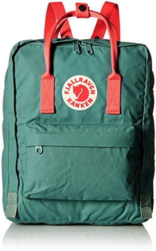 Fjallraven - Kanken Classic Pack, Heritage and Responsibility Since 1960, One Size,Frost Green/Peach Pink