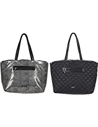 Triple Compartment Reversible Travel Tote