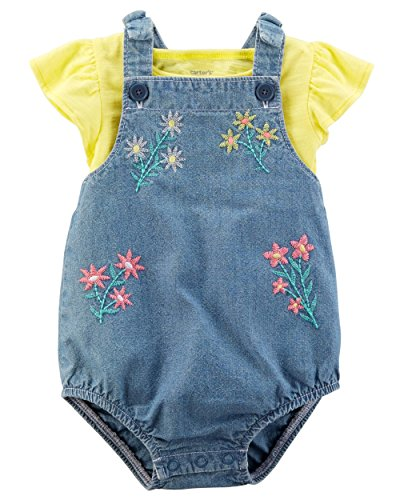 - Carter's Baby Girls' 2 Pc Playwear Sets 239g354 (12 Months, Yellow/Chambray)