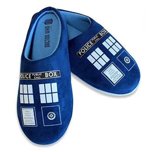 Doctor Who - Tardis - Men's Printed Slippers - 8 Inches