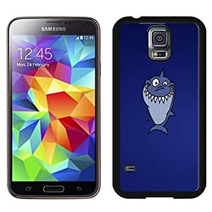 Easy use Cell Phone Case Design with Funny Shark Illustration Galaxy S5 Wallpaper