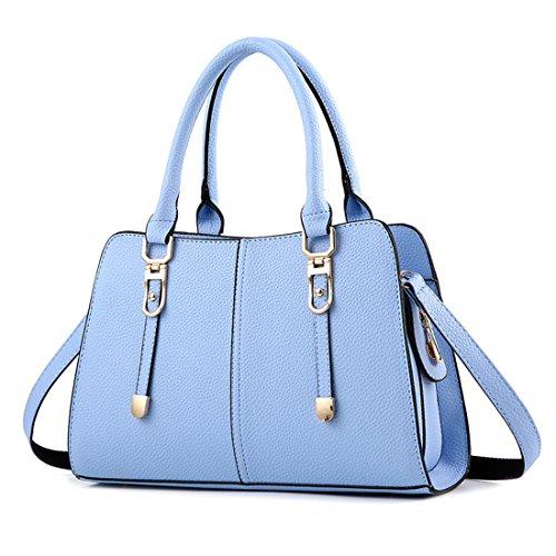Luckywe Mujeres Bolso De Elegante Con Asas Y Bandolera Multicolor Bolso De Asas El Cielo Azul