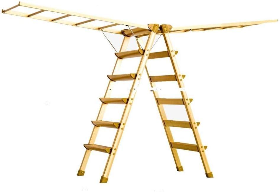 Escalera Doméstica Estante De Secado De Piso Interior Escalera De Engrosamiento De Aleación De Aluminio Multifuncional Plegable 4/6 Pasos,Gold-6step: Amazon.es: Hogar